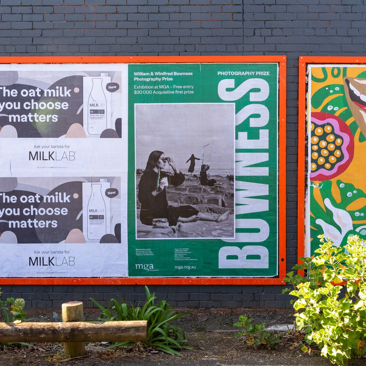 Street poster image: Holmesglen Station mega poster featuring Hayley Millar Baker's 'I will survive' (2020) courtesy of the artist and Vivien Anderson Gallery (Melbourne)