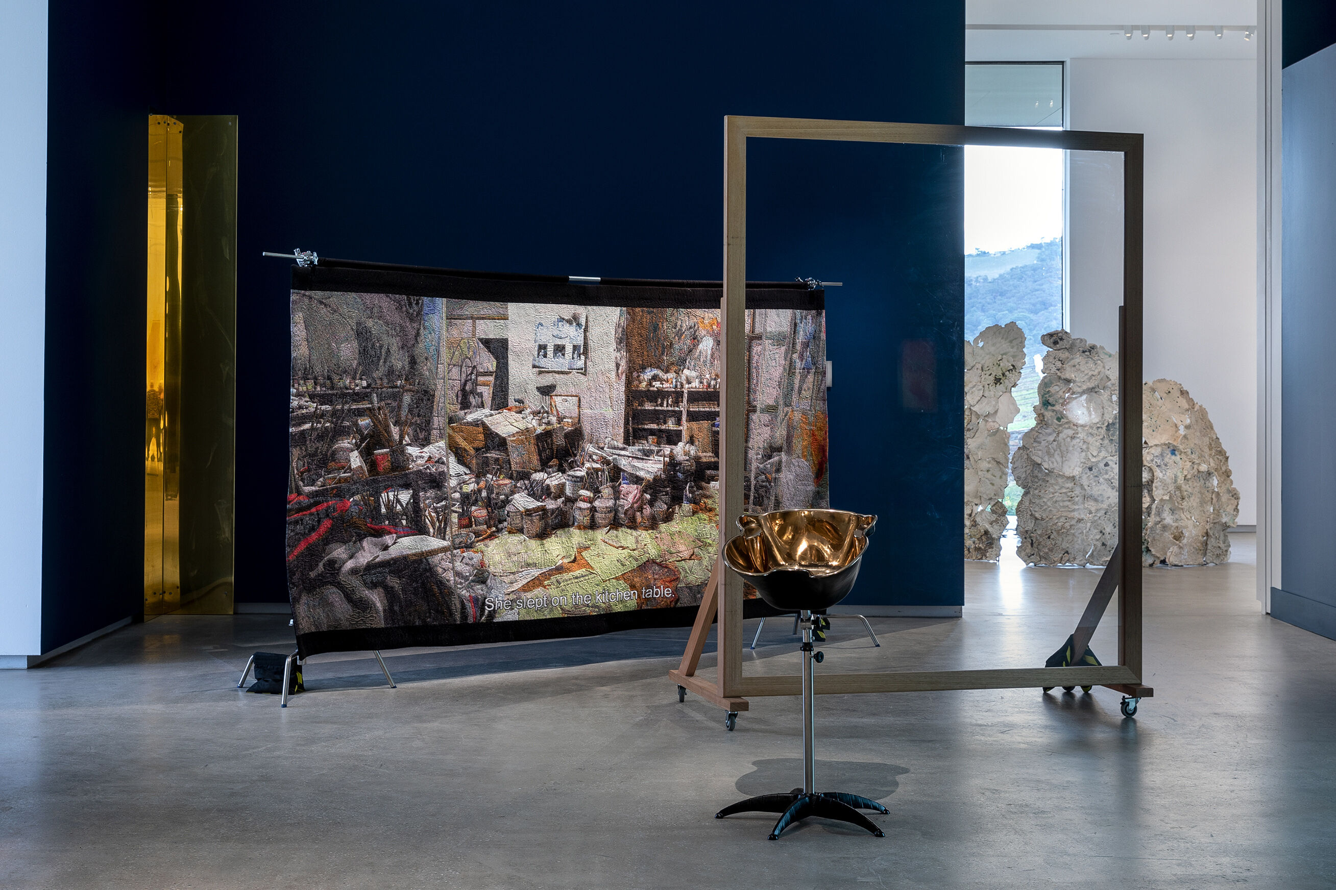 TarraWarra Biennial 2018: From Will to Form installation view of Claire Lambe's work, Witnessing Bacon 2018 TarraWarra Museum of Art, 2018 Photo: Andrew Curtis Courtesy of the artist; Sarah Scout Presents, Melbourne; and Francis Bacon Studio at Dublin City Gallery The Hugh Lane, Dublin, Ireland