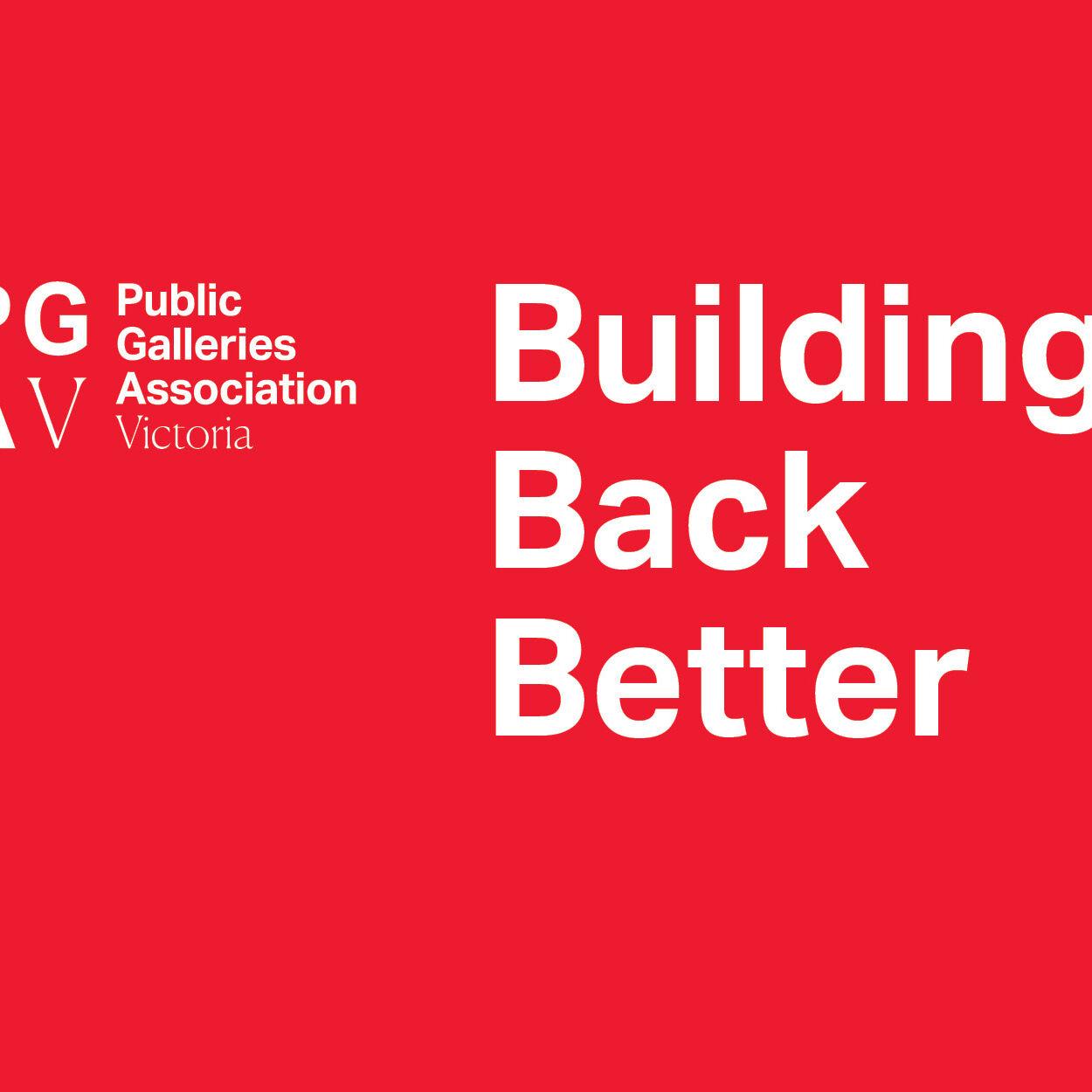 PGAV Building Back Better - website