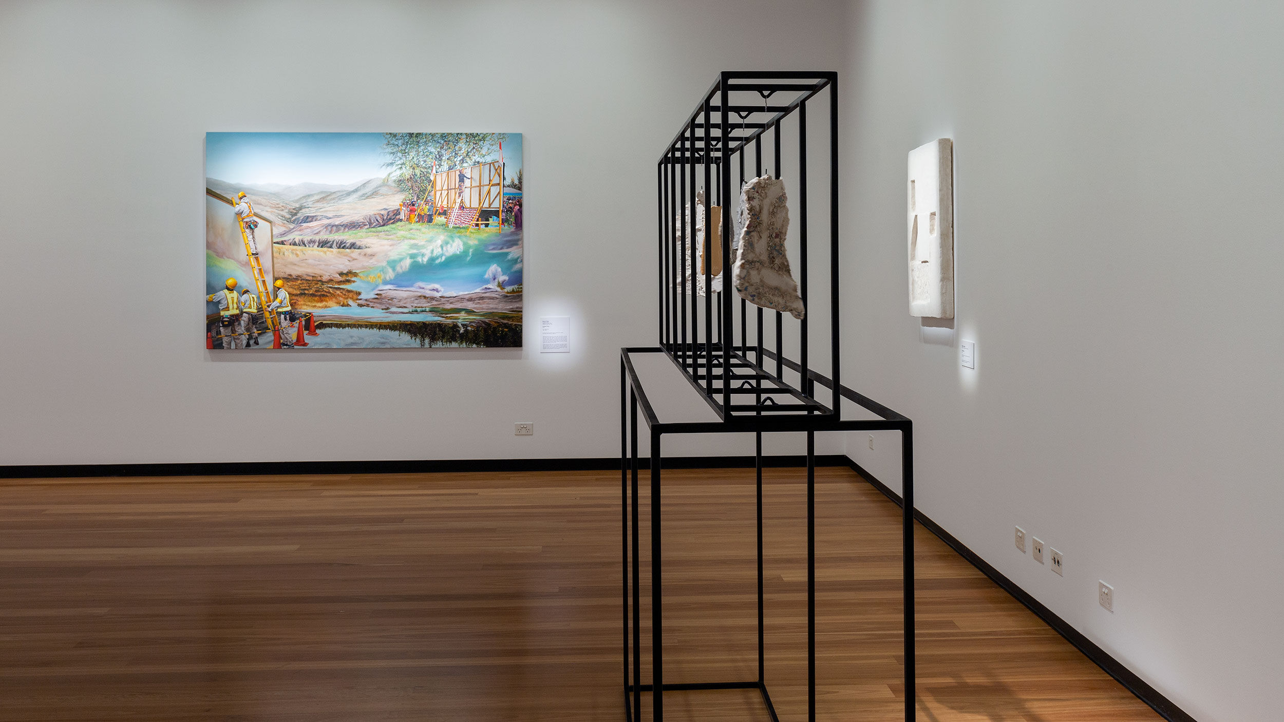 Installation view, 'Shelter in Place', Town Hall Gallery, 2021. Photography by Christian Capurro.