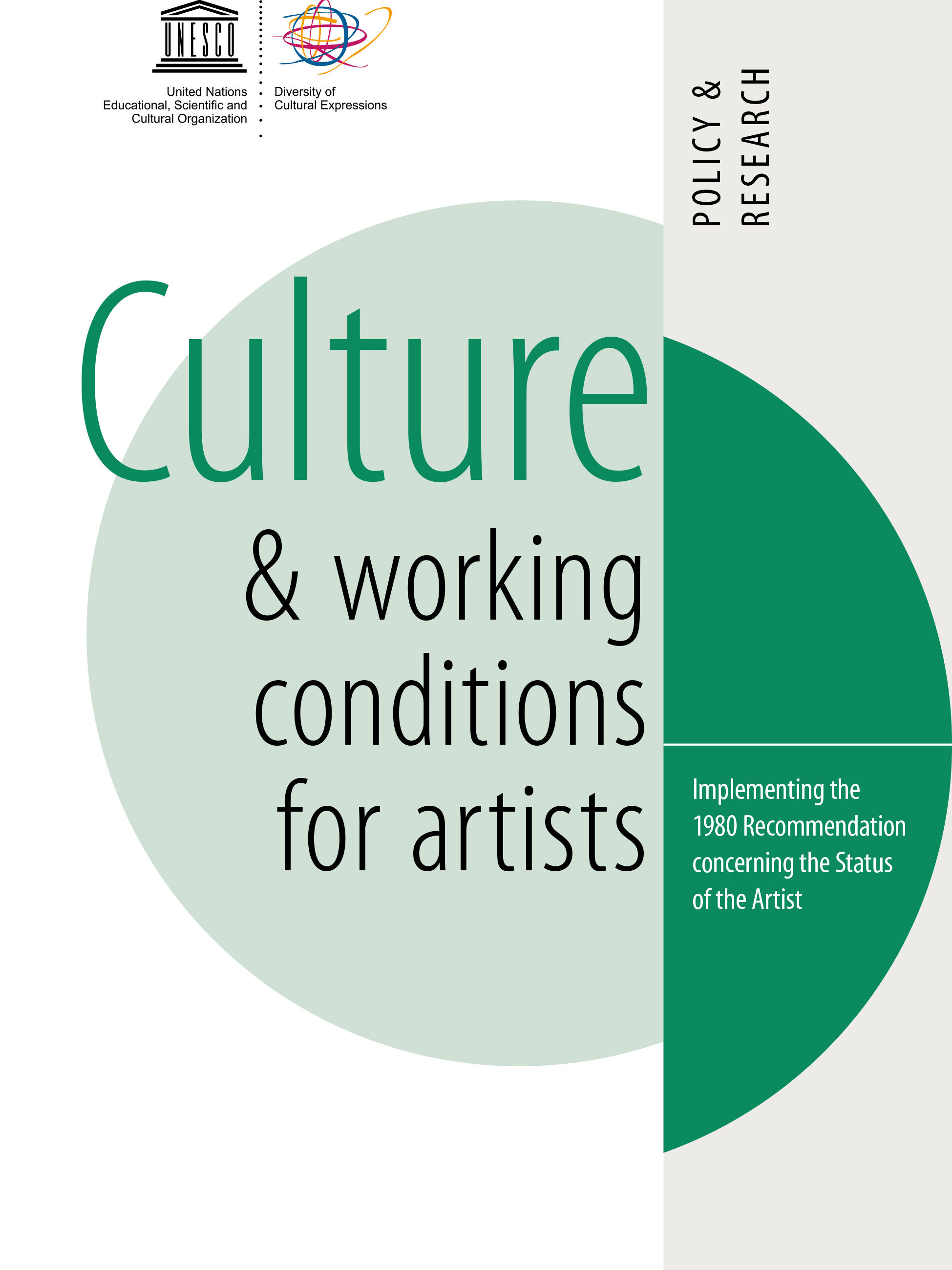 UNESCO Culture & Working Conditions for Artists - cover
