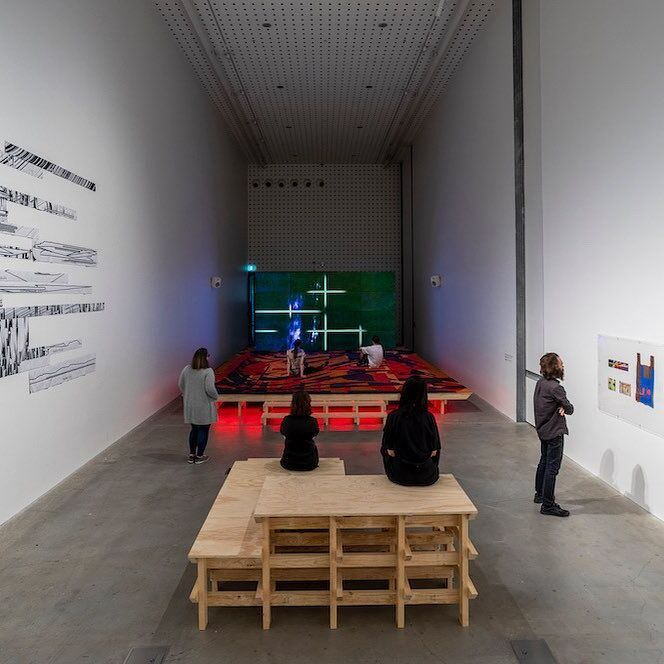 RMIT Design Hub Gallery - 'Metahaven Field Report', installation view, 2020. Photography by Tobias Titz