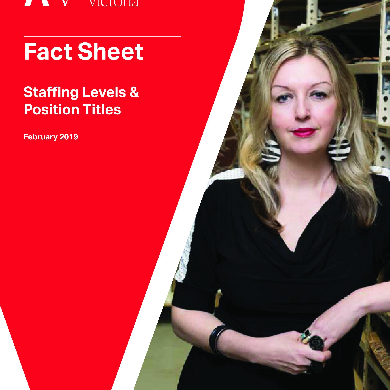 PGAV Fact Sheet Staffing Levels & Position Titles Cover