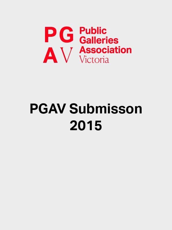 REPORT PGAV Submission 2015