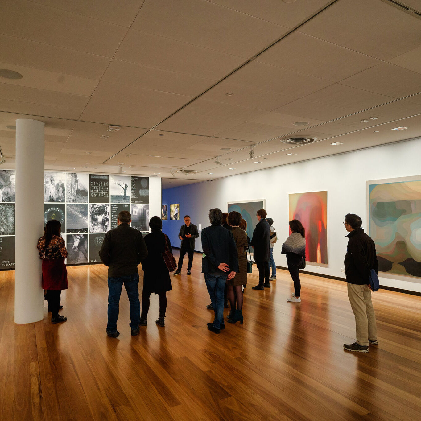 Exhibition opening at Town Hall Gallery for 'The Lives of Celestials' by John Young, displayed 31 August - 20 October 2019. Photograph by ImagePlay
