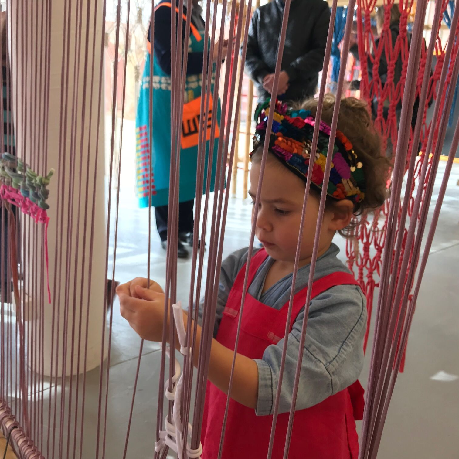 Slow Art Collective's Archi Loom A was presented to celebrate the reopening of Ararat Gallery TAMA