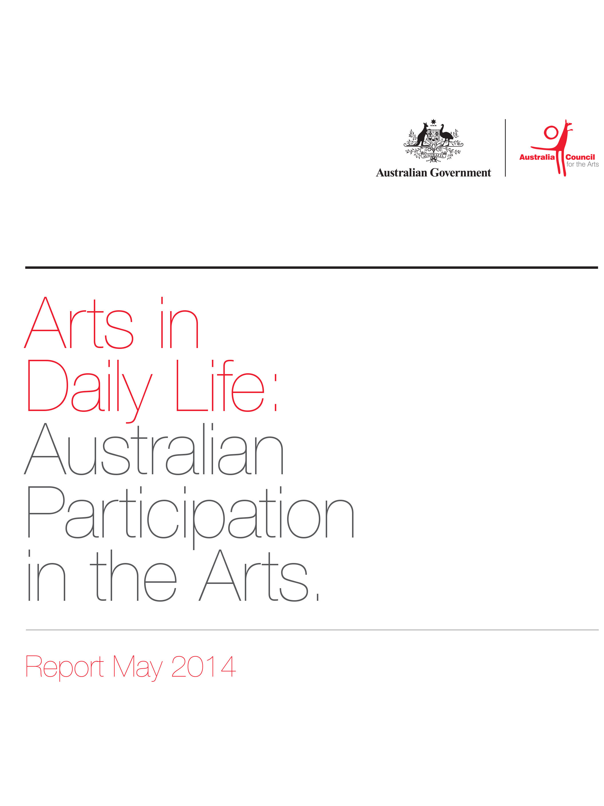REPORT Industry cover, Arts-in-daily-life-australian-1