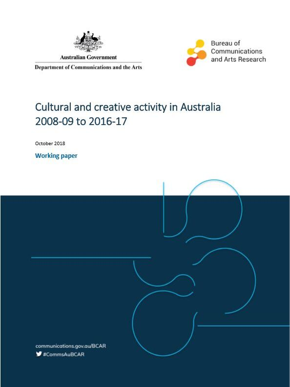 REPORT Cover Cultural and creative activity in Australia  2008-09 to 2016-17