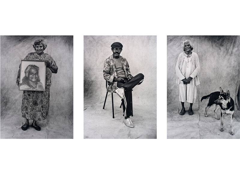 Michael Riley, three photographs from the series A Common Place: Portraits of Moree Murries , 1990.