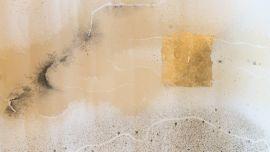 Zakiria Tahirian, Untitled, ink and gold on paper, 2019