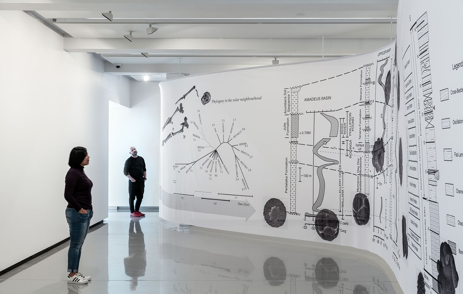 Image: Mariana Castillo Deball: Replaying Life's Tape, installation view: Monash University Museum of Art, Melbourne, 2019. Photo: Andrew Curtis