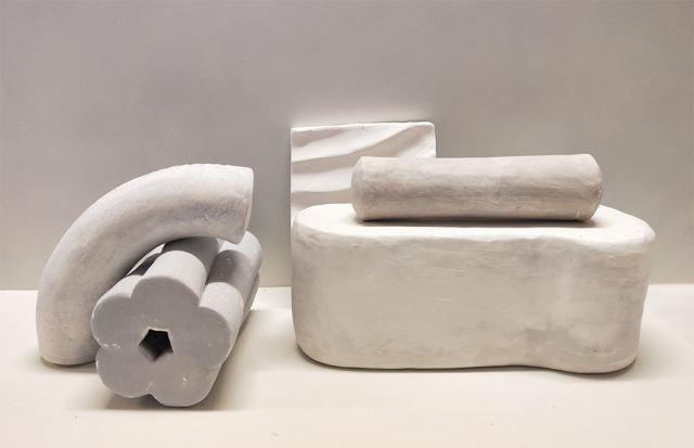 Anna Rowbury, Vestige (detail) 2018, earthenware, dimensions variable. Courtesy the artist.