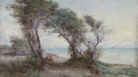 Frederick McCubbin, Brighton Beach (detail), 1896, Oil on Canvas, Mildura Arts Centre Collection.
