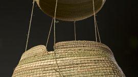 Yvonne Koolmatrie, Hot Air Balloon (detail), 2004. Cyperus gymnocaulos. Mildura Arts Centre Collection. Acquired 2004.