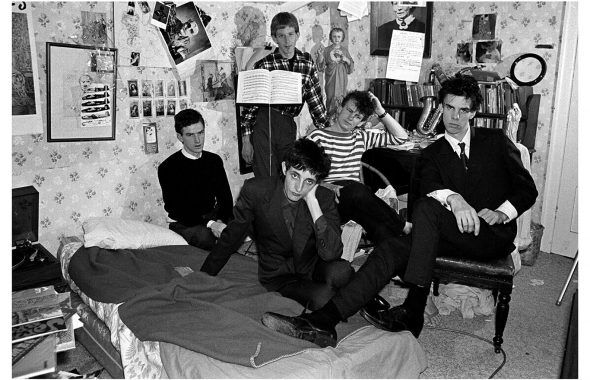 Peter MILNE Boys Next Door first photo session after Rowland joined. Nick's bedroom, Caulfield 1978. Courtesy of the artist and M33