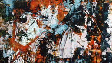 Image: Marina FLOREANCIG, Strata 1 (2019), mixed-media on canvas paper, 50 x 40cm, image courtesy of the artist.