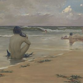Image: Rupert Bunny, Sea idyll  (c.1891), oil on canvas. National Gallery of Victoria, Melbourne. Gift of Alfred Felton, 1892.