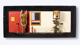 Peter COLE, Luck of the Dancing Bear 2003, Mixed media, 58 x 130 x 13cm, Courtesy the artist.