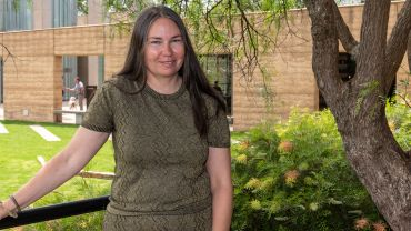Yalingwa Fellowship recipient Yhonnie Scarce at the announcement of the 2020 Yalingwa Fellowship at TarraWarra Museum of Art, 11 February 2020. Photo: Tiffany Garvie