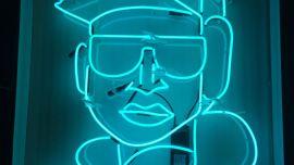 Josh Muir, Neon, 2018, neon, cable, perspex, 100 x 83 cm