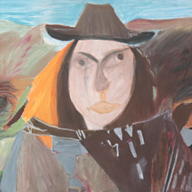 William Murray, Cowgirl in Mexico, 2017, pastel on paper, 38 x 56 cm.