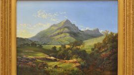 Nicholas Chevalier, Russia/England (1828-1902) Mt Abrupt, The Grampians c.1864 Oil on canvas Purchased by the Hamilton Gallery Trust Fund – M.L. Foster Bequest, with assistance of the Friends of Hamilton Gallery 2004.058