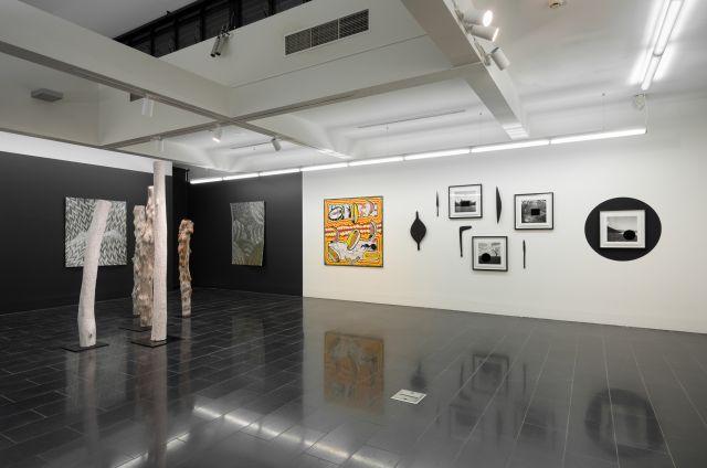 'unbranded' installation view, La Trobe Art Institute, 2019. Photo by Ian Hill.