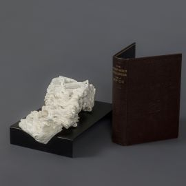 Cyrus TANG, 'The Modern World Encyclopaedia Vol 2' 2017 cremated book ashes, book cover and acrylic case 40.0 x 40.0 x 45.0 cm