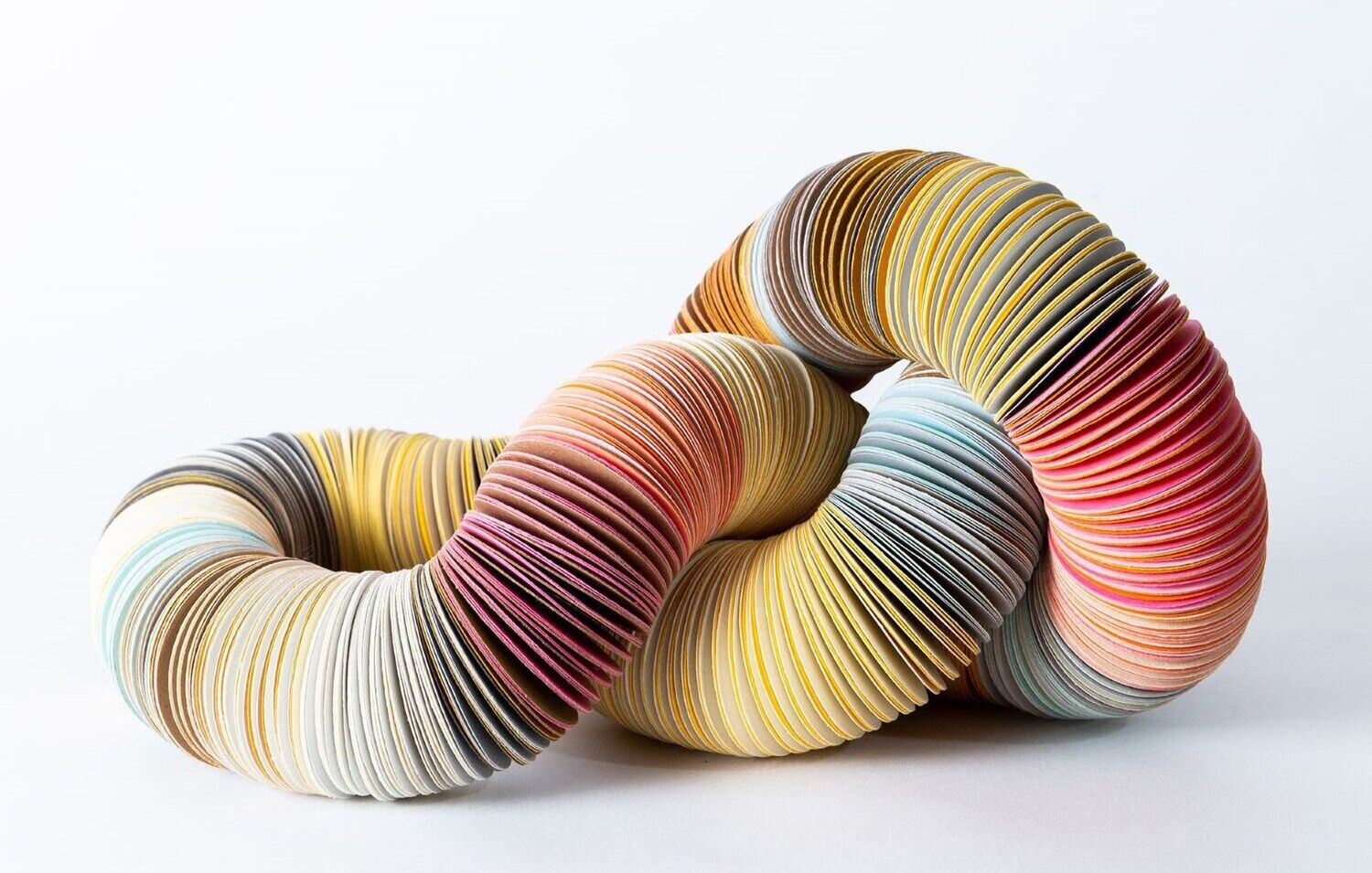 Image: Michelle Cangiano, Knotted neckpiece, embossed paper, nylon thread. Photographer: Michael Pham.