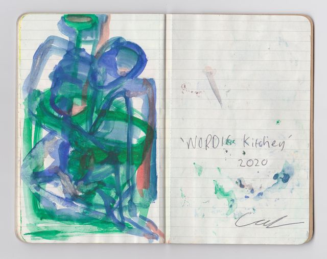 Callum Jackson, Untitled (Journal Entry), Watercolour Paint and Biro on Paper 2020