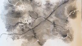 Zakiria Tahirian, Untitled, ink on paper