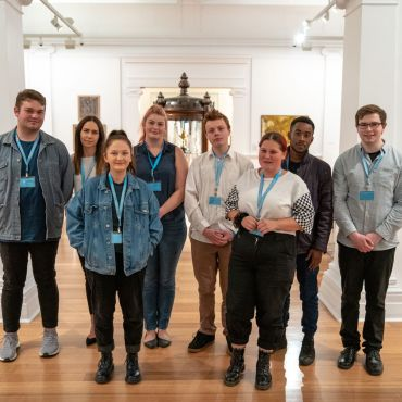 SESSION 5 - Participants in the Geelong Gallery Youth Ambassador Program, 2019. Photo Levi Ingram