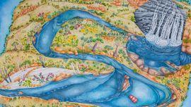 Linden Dean Manning Gorge, Watercolour