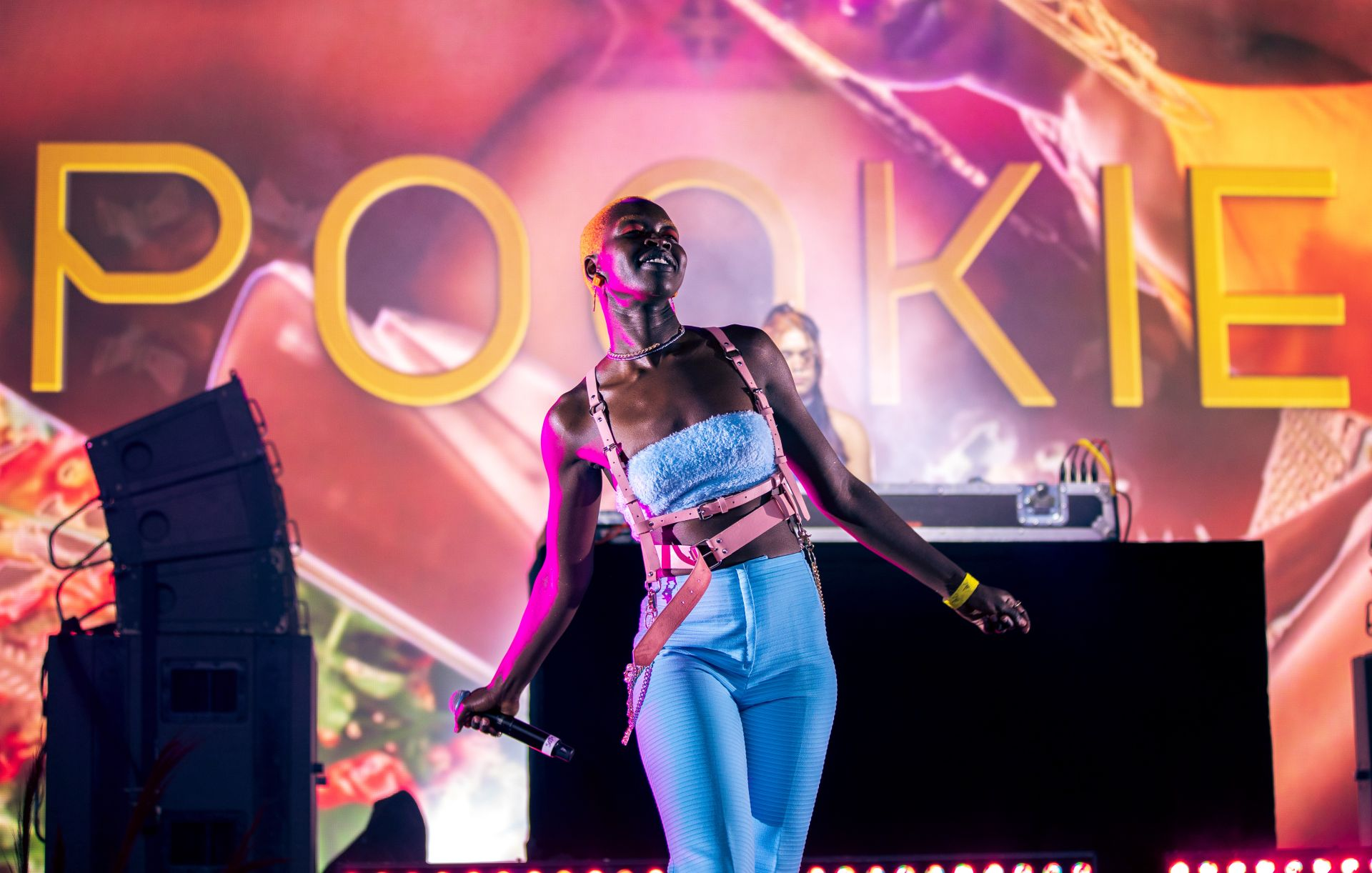 Image Credit: POOKIE performing as part of SorBaes presented by Soju Gang, Live at the Bowl, Arts Centre Melbourne 2021. Image: James Henry