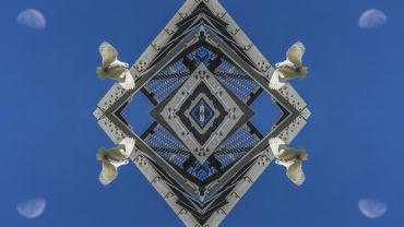 Kent Morris (Barkindji), Barkindji Blue Sky - Ancestral Connections #8, 2019, giclee print on rag paper, 110 x 160 cm, Edition of 5 + 2AP. Courtesy of the artist.
