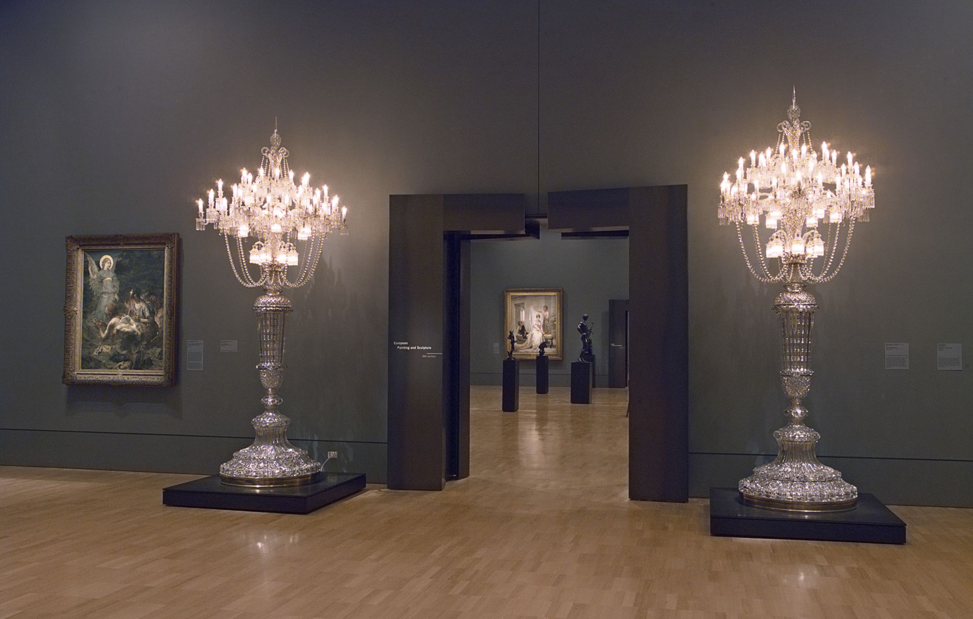 GALLERY NGVI Baccarat Tsar, candelabrum at the entrance to the 19th Century. Photo NGV Photographic Services