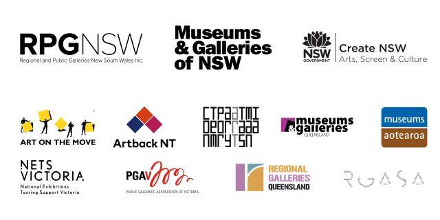 Public Galleries Summit 2018 block logos
