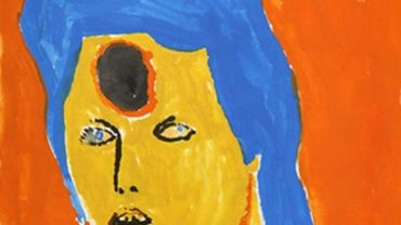 Amani Tia, David Bowie, 2013, gouache on paper, 38 x 28 cm (detail).