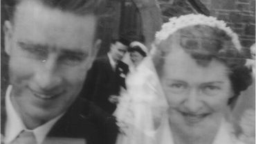 EXHIBITION, CGAG, Wallace Richards Unidentified Wedding MB c1950-60 mono cropped
