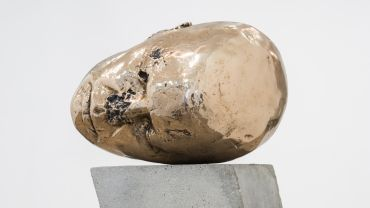 Sanné Mestrom, Self Portrait, Sleeping Muse, 2017, bronze, concrete and steel. Courtesy the artist and Sullivan + Strumpf, Sydney.