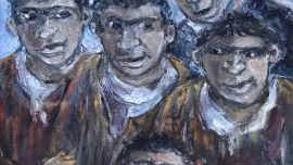 Yosl Bergner Brothers 2014 Oil on canvas 60 x 50 cm