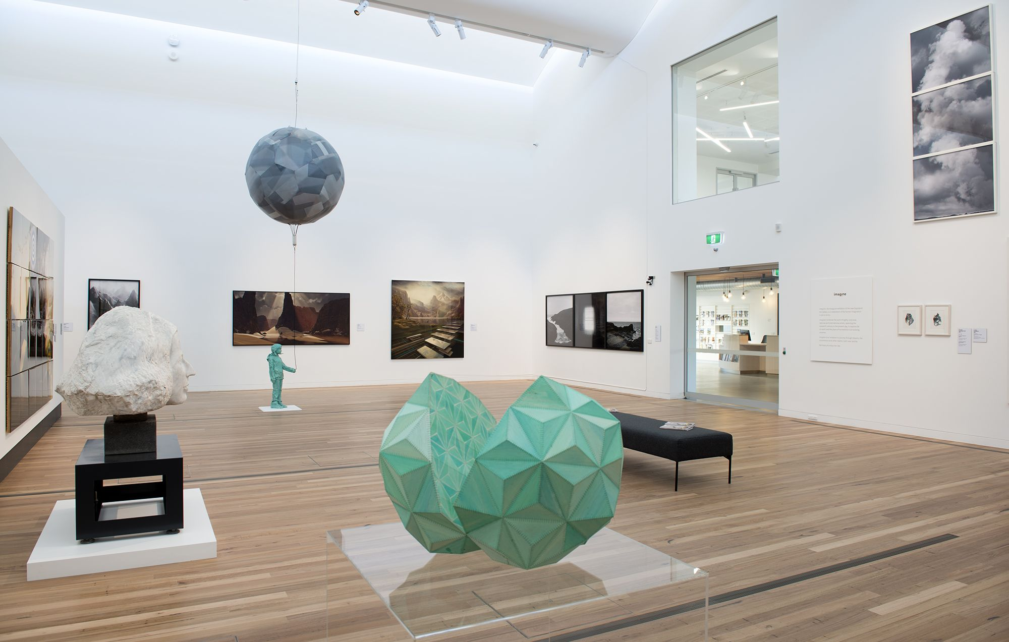 Installation view of the exhibition Imagine. Photograph by Lindsay Roberts
