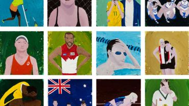 Richard Lewer, The theatre of sports 2016 (detail), oil on canvas, Courtesy of the artist, Sullivan and Strumpf, Sydney and Hugo Michell Gallery, Adelaide. Photo credit: Andrew Curtis