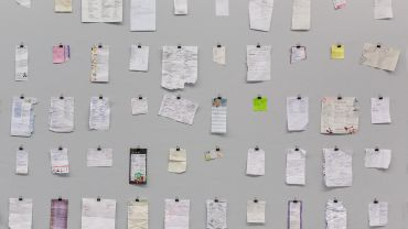 Kenny PITTOCK Fifty two found shopping lists written by people who need milk 2017 acrylic on kiln fired ceramic Collection of Redlands Catholic School, Cremorne, New South Wales Acquired through the 2017 Redlands Konica Minolta Art Prize Photography courtesy of the artist