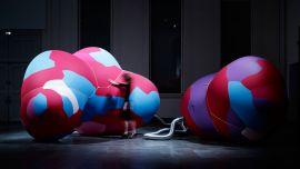 Dynamics of Air, 14 RMIT Gallery, Sept – 17 November 2018 Caption: Phil Ayres, Petras Vestartas, Danica Pistekova, Maria Teudt, Inflated Restraint, 2016.