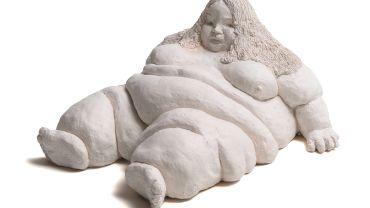 Chris Mason, Reclining Nude, 2015, ceramic, 19.5 x 35.5 x 42 cm