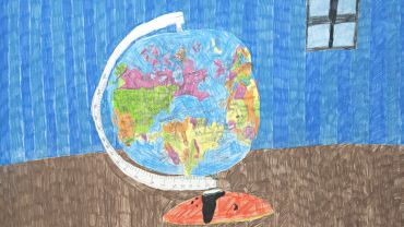 EXHIBITION Arts Project, Lisa-Reid-Globe-of-the-World-2002-pencil-on-paper-66-x-50-cm.