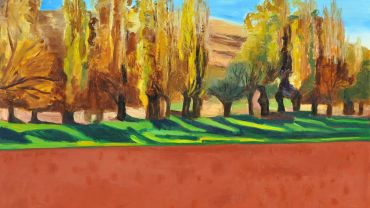 Jeff Makin Campbells Creek 2015 Oil on Belgium linen 92 x 122 cm Collection of the artist Image courtesy of the artist and James Makin Gallery