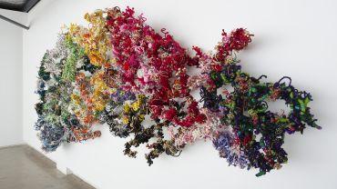 Hiromi Tango, 46 Healing Chromosomes, 2017 (detail), mixed media, 200 x 520 x 48 cm. Courtesy of the artist and Sullivan+Strumpf, Sydney .