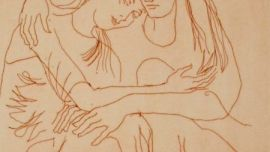 Judy Cassab, Reunion, (detail), 8/70, 2001, print on paper, 24.5 x 32.5cm